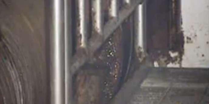 Image d'une fuite d'eau radioactive dans le réacteur n°1 de la centrale de Fukushima.