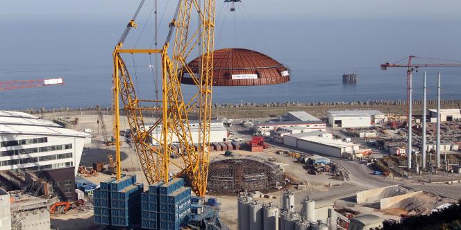 Le chantier de l'EPR de Flamanville.
