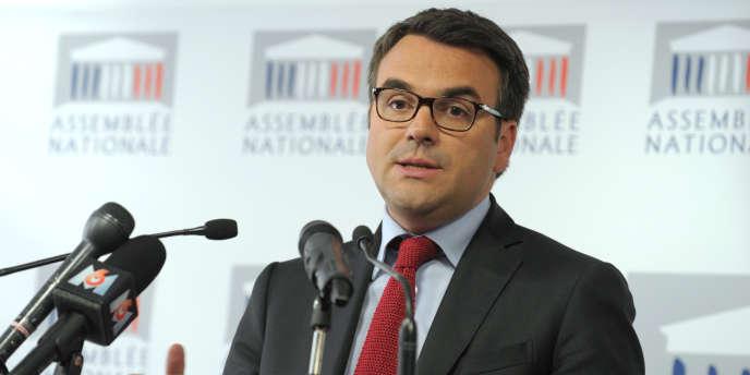 Thomas Thévenoud, à l'Assemblée nationale le 24 avril.
