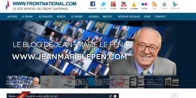 Capture d'écran du site du FN, le 12 juin.
