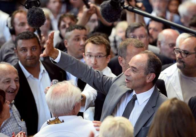 Jean-François Copé lors d'un meeting à Aulnay-sous-Bois (Seine-Saint-Denis) le 11 juin.