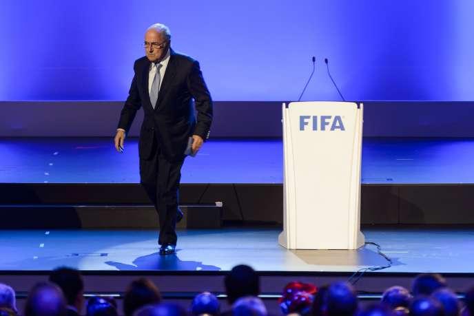 Le président de la FIFA Joseph Blatter, mercredi 11juin à Sao Paulo.