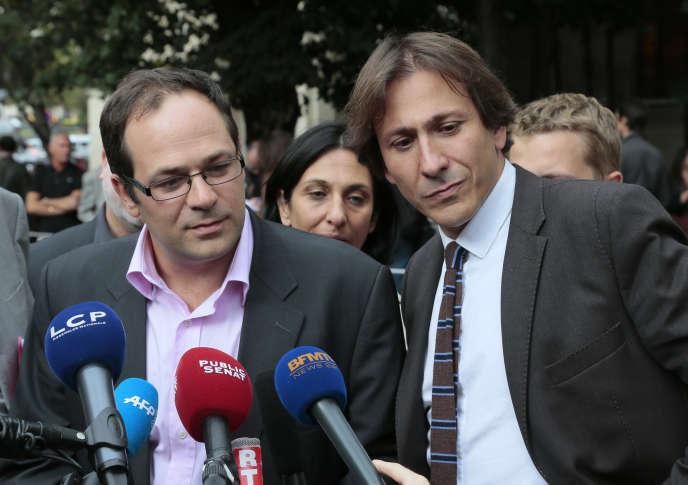 Emmanuel Maurel (à gauche) et Jérôme Guedj participent au collectif L'appel des 100, qui a vu le jour le 5 avril 2014.
