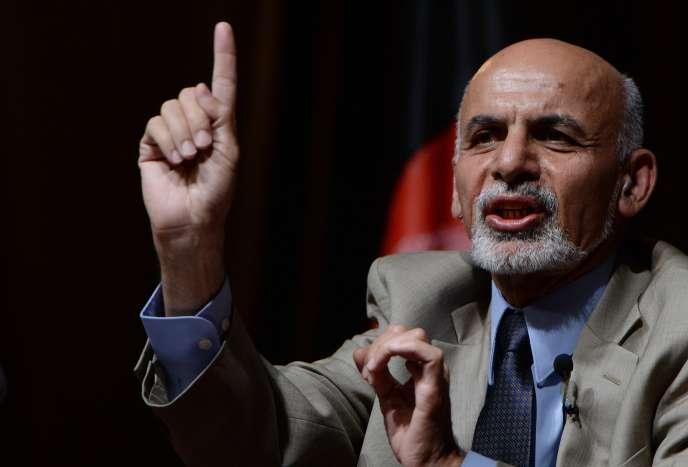 Le candidat Ashraf Ghani, le 11 juin, dernier jour de la campagne présidentielle, à Kaboul.