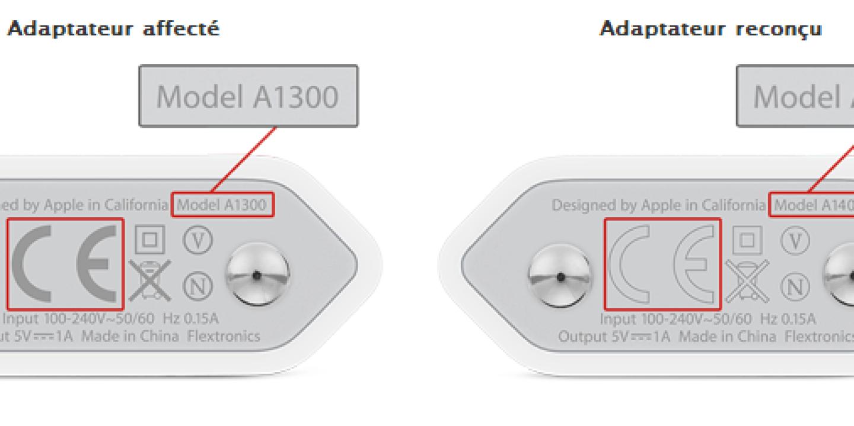 Adaptateur Secteur iPhone 7 Apple modèle A1400
