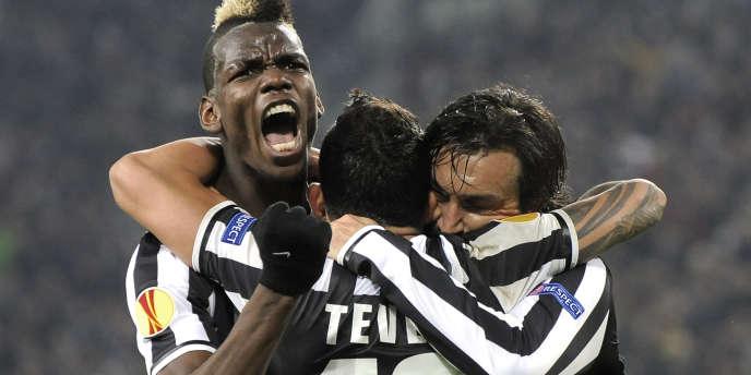 Paul Pogba, qui exulte ici le 20 février 2014, est l'une des stars de la Juventus de Turin. Jusqu'à quand ?