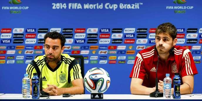 Iker Casillas et Xavi à l'approche de ce remake contre les Pays-Bas.