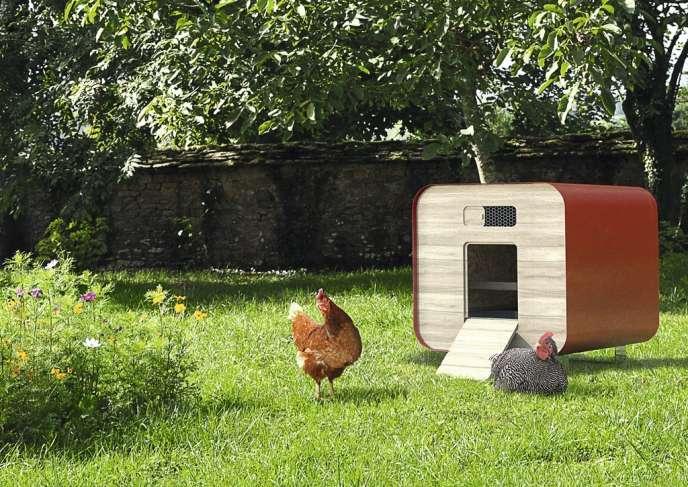 Les gallinacés ont aujourd'hui droit à  des poulaillers design (ici, le Farmili).
