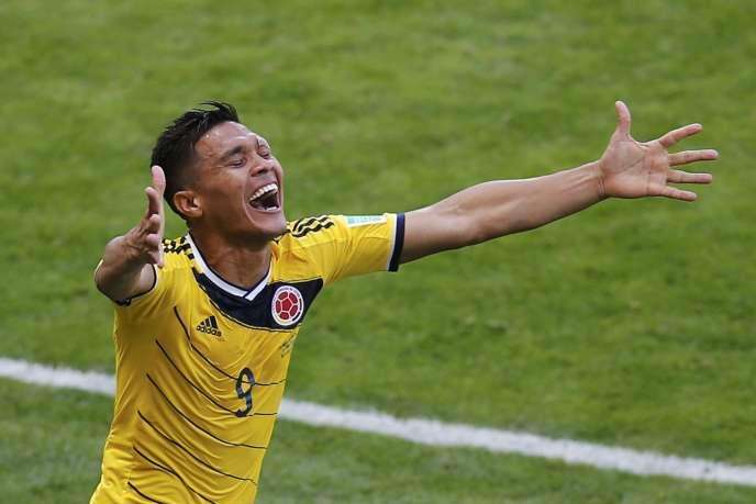 Teo Gutierrez a signé le deuxième but colombien face à la Grèce pour son premier match dans ce groupe C, à Belo Horizonte, samedi 14 juin.