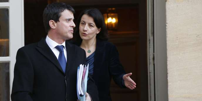 Cécile Duflot et Manuel Valls à Matignon, en février 2013.