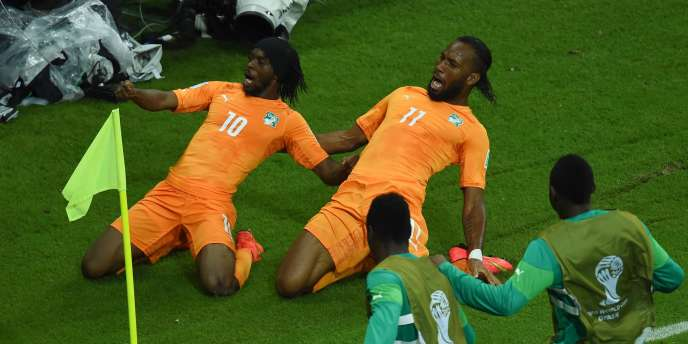 La Côté d'Ivoire a battu le Japon 2-1 pour son première match du Mondial 2014, le 14 juin.