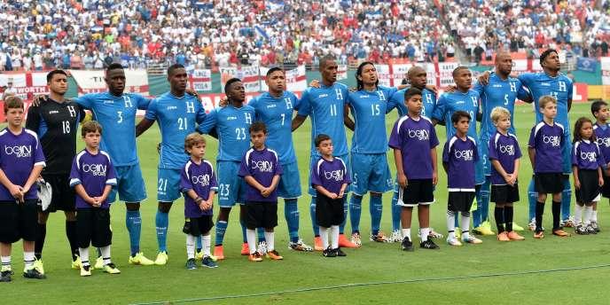 L'équipe du Honduras, le 7 juin en match amical contre l'Angleterre à Miami.