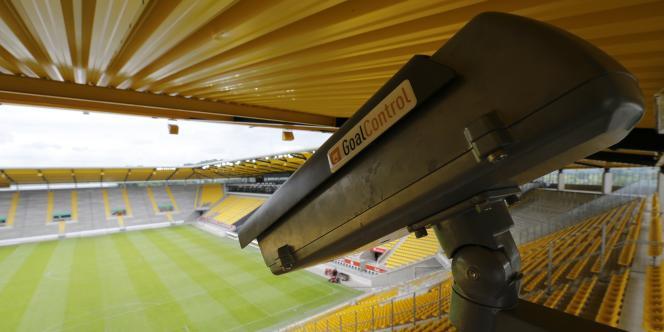 Une caméra utilisée pour la technologie Goal Control.