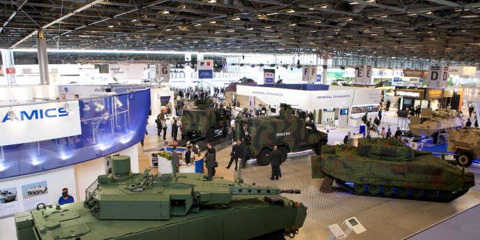 Eurosatory, le plus grand salon mondial de l'armement, se tient tous les deux ans à Paris-Nord-Villepinte (Seine-Saint-Denis).