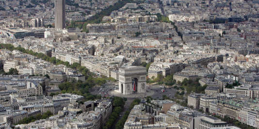 Vue aérienne de Paris, en 2005.
