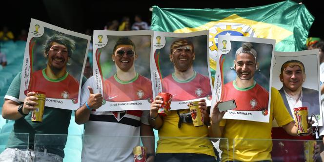 Des supporteurs portugais, le 16 juin à Salvador.