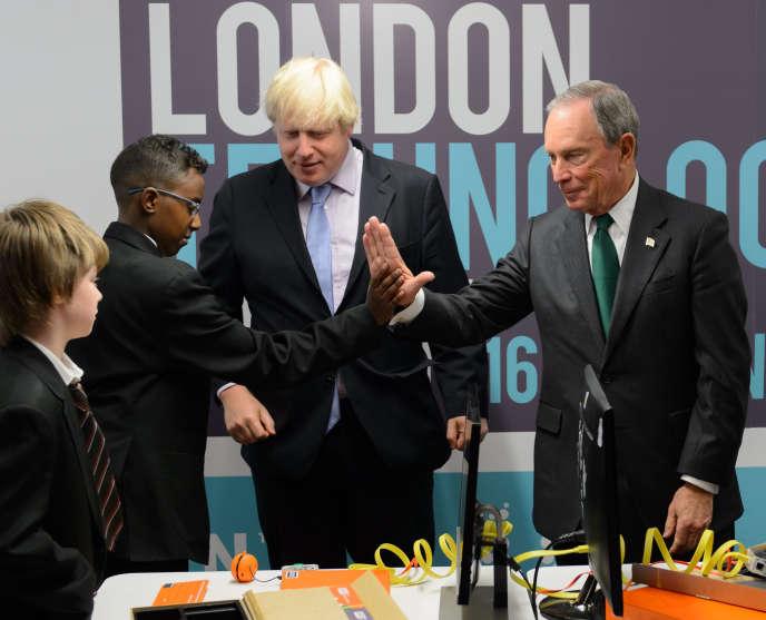 Boris Johnson, le maire de Londres, et Mickael Bloomberg, l'ancien édile de New York, lors de l'inauguration de la Semaine de la technologie, le 16 juin.