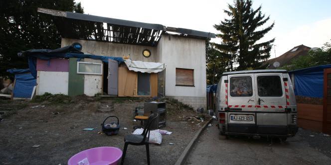 Le campement où résident la victime et sa famille, à Pierrefitte-sur-Seine.