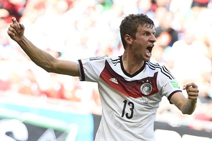 Thomas Müller, auteur de trois buts contre le Portugal, lundi 16 juin à Salvador de Bahia.