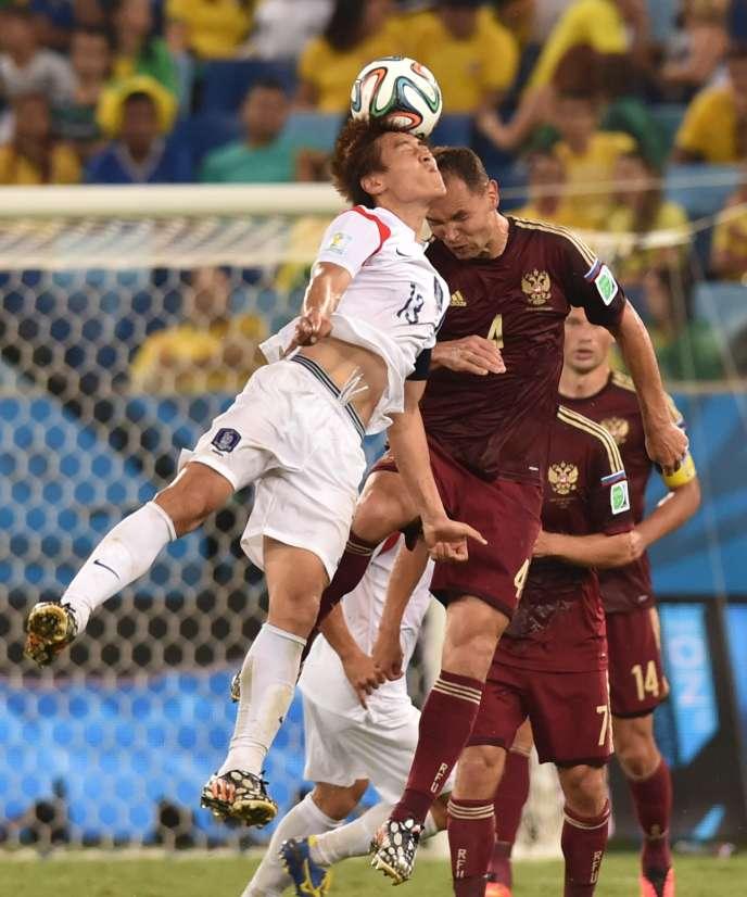 Pendant le match entre la Russie et la Corée du sud au Mondial 2014, le 17 juin.