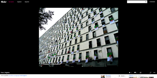 Page Flickr où l'on trouve ce cliché, qui vient donc d'Algérie et pas de Barbès à Paris