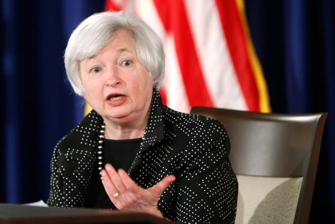 Janet Yellen, présidente de la Réserve fédérale américaine (Fed), Janet Yellen, le 18 juin.