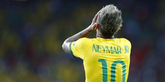 Neymar, ici le 17 juin lors de Mexique-Brésil à Fortaleza.