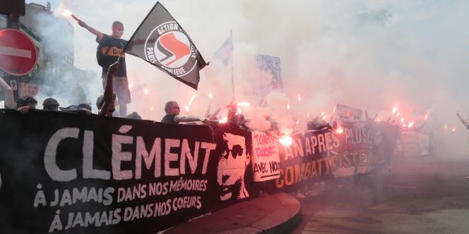 Manifestation antifasciste à Paris, le 7 juin.