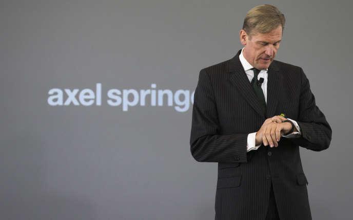 Mathias Döpfner, PDG du groupe de presse allemand Axel Springer, en 2013, à Berlin.