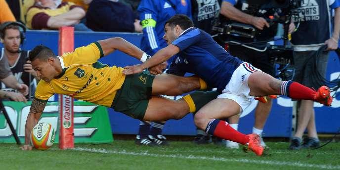 L'Australien Israel Folau a inscrit deux essais aux Bleus, samedi à Sydney.
