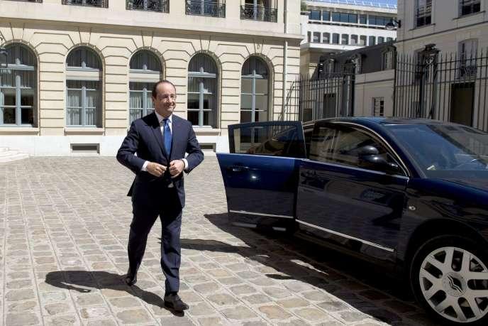 François Hollande, le 21 juin à Paris.