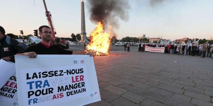 Des agriculteurs ont manifesté à Paris mardi 24 juin contre le projet de loi sur l'avenir de l'agriculture.