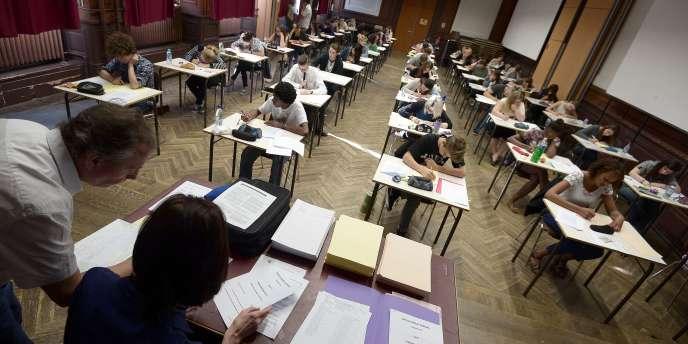 Epreuve de philosophie du baccalauréat, le 16 juin, au lycée Fustel de Coulanges à Strasbourg.