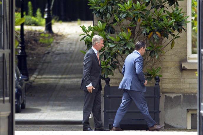 Le roi Philippe et Bart De Wever, le 25 juin à Bruxelles.