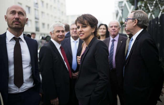 Najat Vallaud-Belkacem, lors d'une visite à Romainville (Seine-Saint-Denis), le 19 juin.