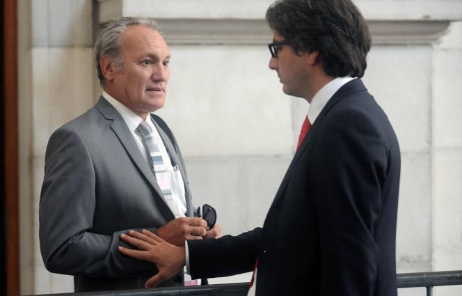 Marc Mariée, l'avocat général, et Arnaud Dupin, l'avocat de Nicolas Bonnemaison, au tribunal de Pau le 19 juin.
