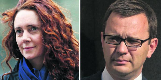 Rebekah Brooks, ex-directrice de News International, le pôle anglais du conglomérat de Rupert Murdoch, et Andy Coulson, ex-patron du tabloïd «News of the World».