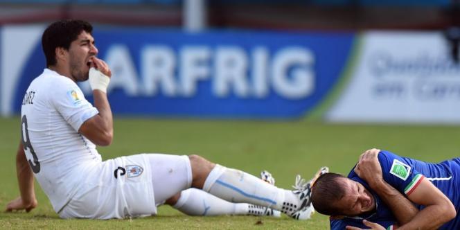 L'attaquant uruguayen risque une lourde sanction pour avoir mordu le défenseur italien Giorgio Chiellini mardi, lors de Uruguay-Italie (2-1).