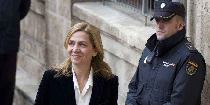 L'infante Cristina, sœur du roi d'Espagne, le 8 février 2014.