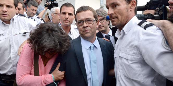 Nicolas Bonnemaison, le 25 juin à Pau, à la sortie du tribunal.