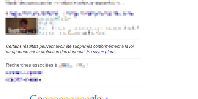 Exemple de recherche Google sur un nom.