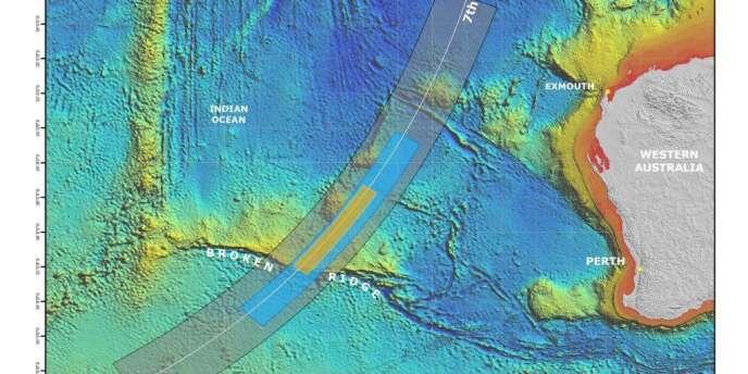 Les zones de recherche du MH370 présentées par l'Australie, le 26 juin 2014.