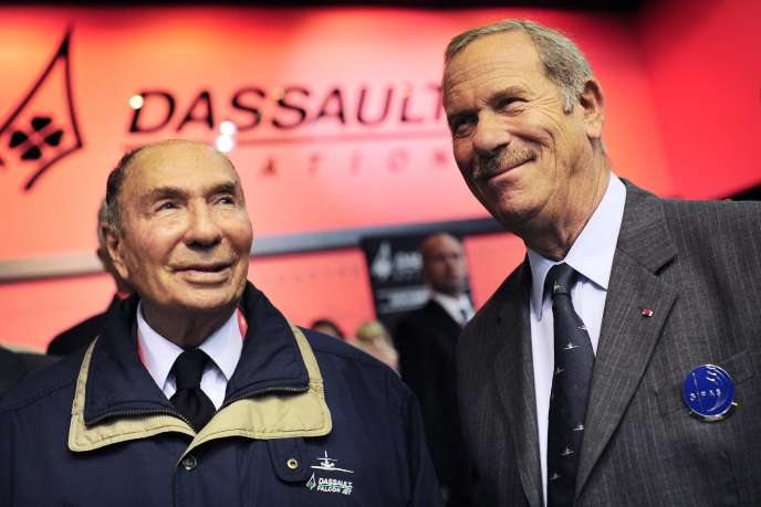 Serge Dassault et Charles Edelstenne, au Salon du Bourget, en 2011.
