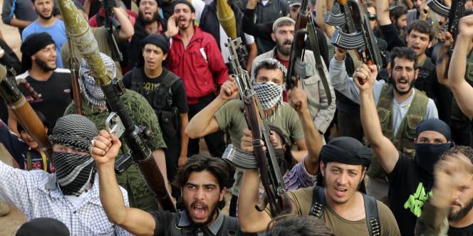 Des combattants de l'Armée syrienne libre le 9 juin 2014.