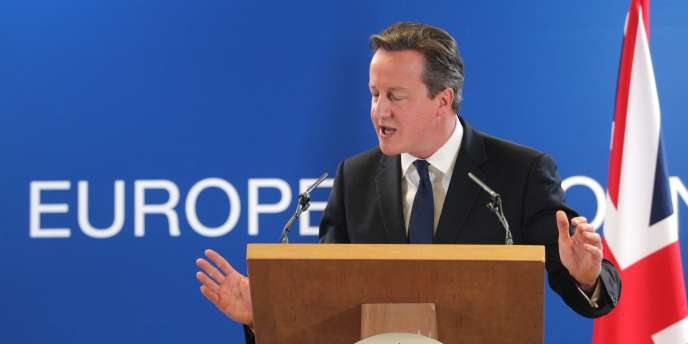 Le premier ministre britannique, David Cameron, après le sommet de l'UE à Bruxelles le 27 juin.
