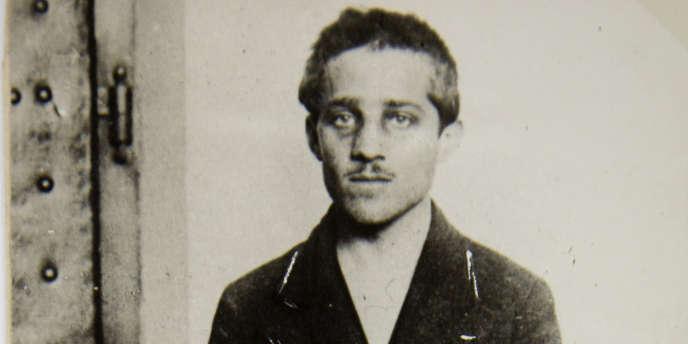 Gavrilo Princip, en prison, après l'assassinat de l'archiduc d'Autriche-Hongrie et de sa femme, le 28 juin 1914.