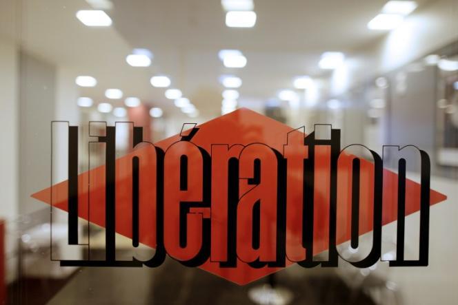 L'entrée de «Libération» à Paris.