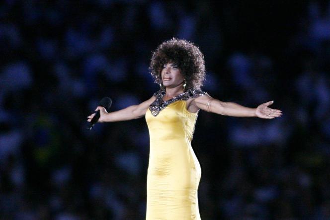 Elza Soares, en 2007 lors de la Cérémonie d'ouverture des jeux panaméricains.