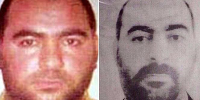 Les deux seules images disponibles d'Al-Baghdadi avant son prêche. Celle du ministère irakien de l'intérieur et celle du FBI.