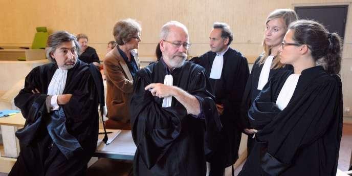 Les avocats des parties civiles au procès des parents de Marina, attendent le verdict rendu par la cour d'assises de la Sarthe, mardi 26 juin.